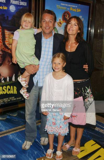 """Brian Conley, wife Anne-Marie and family arrive at the UK Premiere of """"Madagascar"""" at the Empire Leicester Square on July 3, 2005 in London, England."""