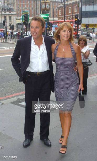 """Brian Conley with Anne Marie Conley during """"Tonight's The Night"""" - Charity Gala Performance - Arrivals at Victoria Palace Theatre in London."""