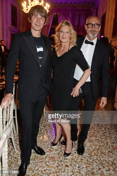 Brian Cox Alison Jackson and Stefano Pasianot attend a party to celebrate Nefer Suvio's birthday hosted by The Count and Countess Francesco Chiara...
