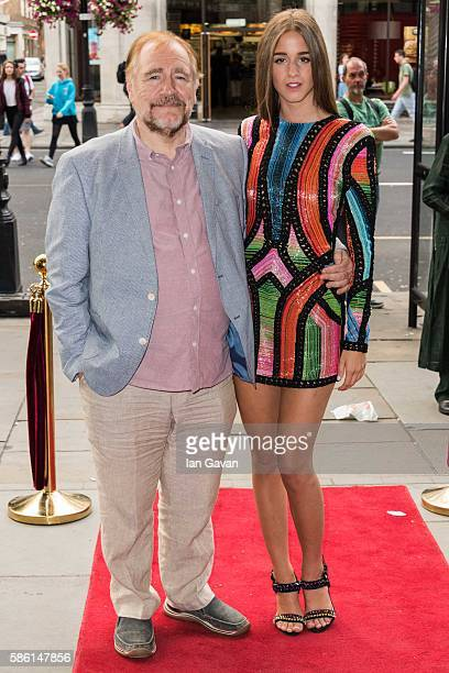 Brian Cox and Coco Konig attend the UK Film Premiere of The Carer at Regent Street Cinema on August 5 2016 in London England