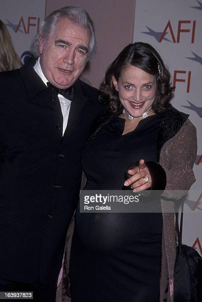 Brian Cox and Nicole Ansari attend American Film Institute Benefit Gala on January 5 2002 at the Beverly Hills Hotel in Beverly Hills California