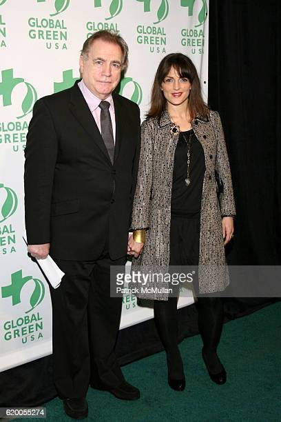 Brian Cox and Nicole Ansari attend GLOBAL GREEN USA 2008 Sustainable Energy Awards at Pier Sixty on December 10 2008 in New York City
