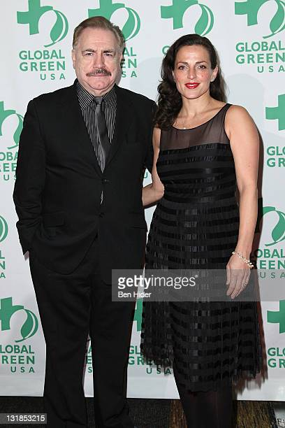 Brian Cox and Nicole Ansari attend Global Green USA's 11th Annual Sustainable Design awards at Pier 60 on December 6 2010 in New York City