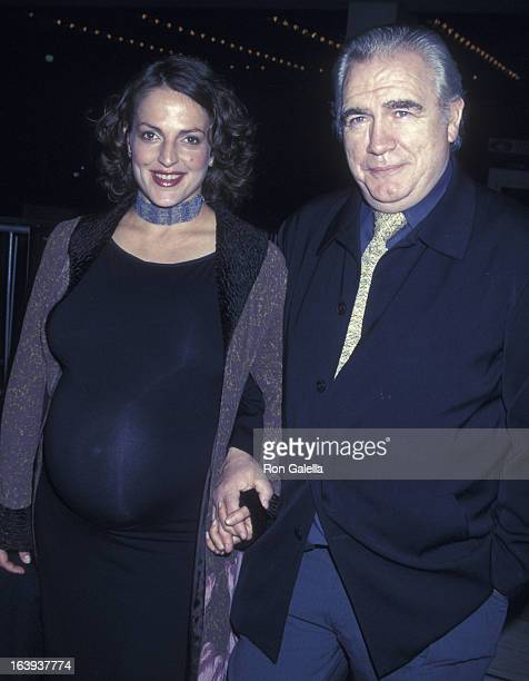 Brian Cox and Nicole Ansari attend the screening of The Affair of the Necklace on November 20 2001 at Loew's Century Plaza Theater in Century City...