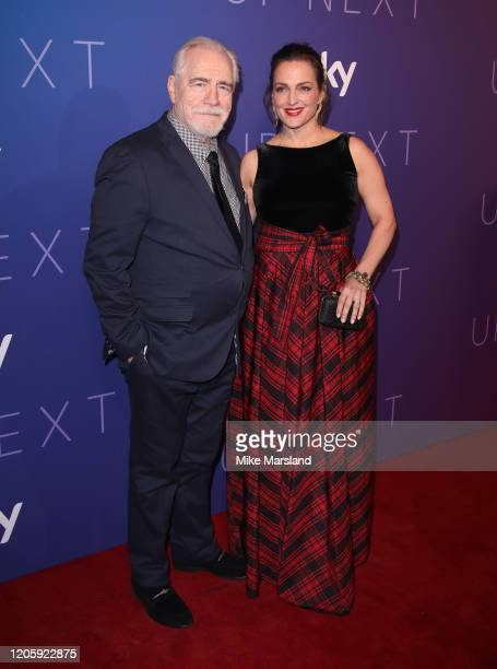 Brian Cox and Nicole Ansari attend the Sky Up Next 2020 at Tate Modern on February 12 2020 in London England