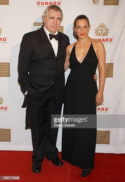 Brian Cox and Nicole Ansari during 2005 BAFTA/LA Cunard Britannia Awards Arrivals at Beverly Hilton Hotel in Beverly Hills California United States