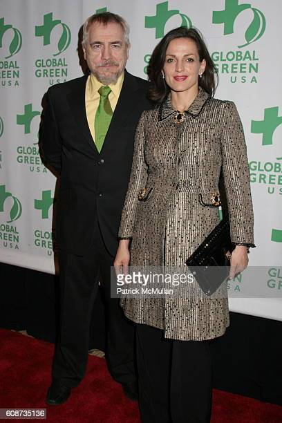 Brian Cox and Nicole AnsariCox attend Global Green USA's 8th Annual Sustainable Design Awards Dinner at Ritz Carlton on December 3 2007 in New York...