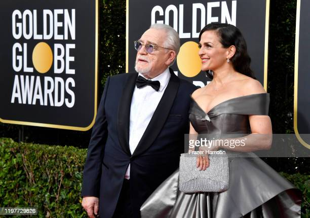 Brian Cox and Nicole AnsariCox attend the 77th Annual Golden Globe Awards at The Beverly Hilton Hotel on January 05 2020 in Beverly Hills California