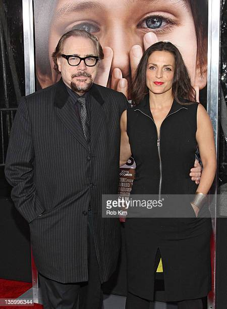 Brian Cox and Nicole AnsariCox attend the Extremely Loud Incredibly Close New York premiere at the Ziegfeld Theater on December 15 2011 in New York...
