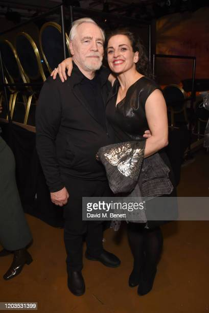 Brian Cox and Nicole AnsariCox attend the press night after party for Sinners at the Playground Theatre on February 26 2020 in London England