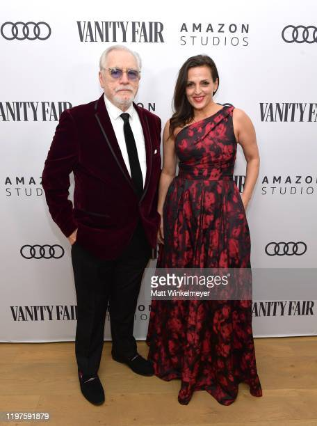 Brian Cox and Nicole AnsariCox attend Vanity Fair Amazon Studios and Audi Celebrate The 2020 Awards Season at San Vicente Bungalows on January 04...