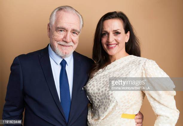 Brian Cox and Nicole AnsariCox pose for a portrait at the 2020 BAFTA Tea Party on January 04 2020 in Beverly Hills California