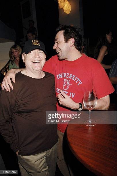 Brian Cox and Sean Hughes attend the after show party following the 'Rock 'n' Roll' play at The Albannach on July 27 2006 in London England