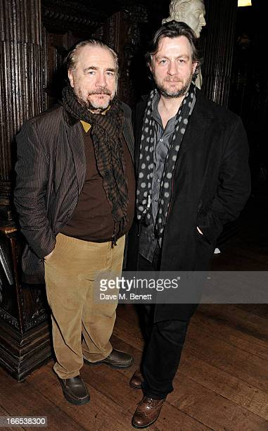 Brian Cox and son Alan attend a party to celebrate Michael Attenborough's 11 years as Artistic Director of the Almeida Theatre at Middle Temple Hall...