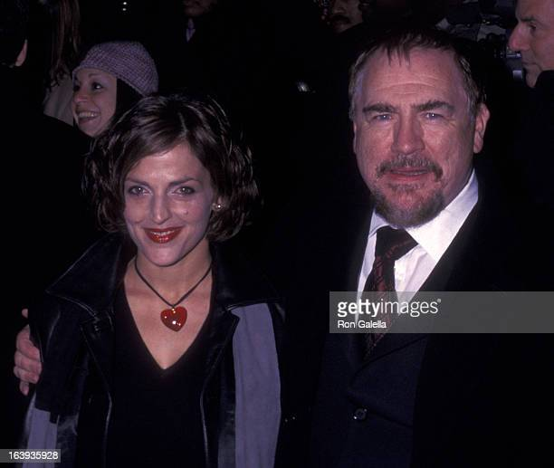 """Brian Cox and wife Nicole Ansari attend the world premiere of """"25th Hour"""" on December 16, 2002 at the Ziegfeld Theater in New York City."""