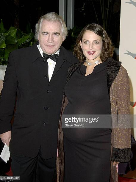 Brian Cox and wife Nicole arriving at the AFI Awards 2001 at the Beverly Hills Hotel in Beverly Hills California