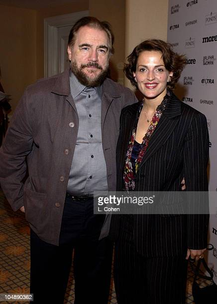 Brian Cox and wife Nicole during Meryl Streep Honored with the Inaugural MORE Alpha Woman Award at The Beverly Hills Hotel in Beverly Hills...