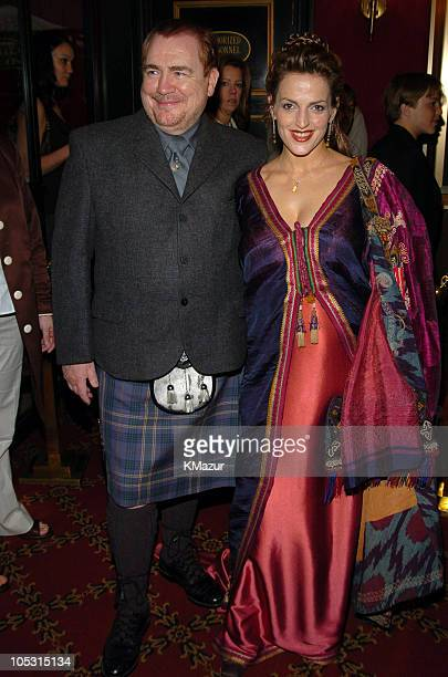 """Brian Cox and wife Nicole during """"Troy"""" New York Premiere - Inside Arrivals at Zeigfeld Theater in New York City, New York, United States."""