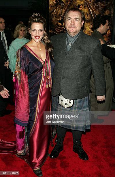 Brian Cox and wife Nicole during Troy New York Premiere - Outside Arrivals at Ziegfeld Theater in New York City, New York, United States.