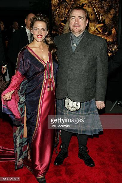 Brian Cox and wife Nicole during Troy New York Premiere Outside Arrivals at Ziegfeld Theater in New York City New York United States
