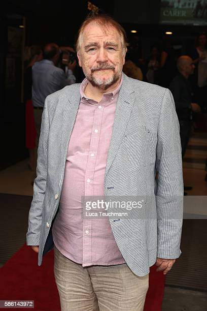Brian Cox arrives for the UK Film Premiere of The Carer at Regent Street Cinema on August 5 2016 in London England