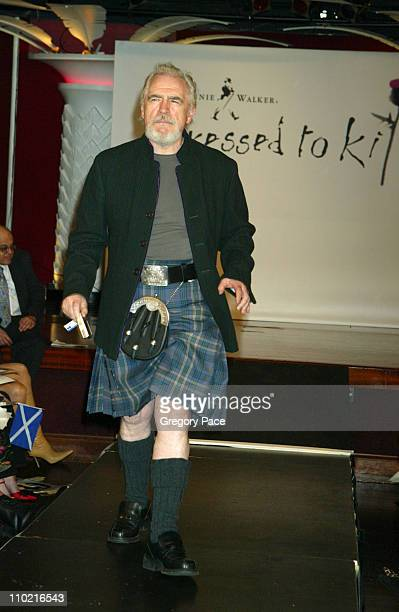 Brian Cox during Dressed to Kilt A Scottish Evening of Fashion and Fun Runway at Copacabana in New York City New York United States