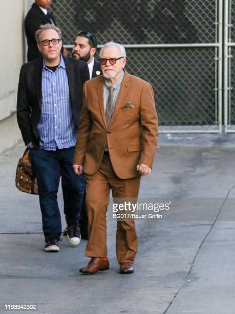 Brian Cox is seen arriving at 'Jimmy Kimmel Live' on January 15, 2020 in Los Angeles, California.