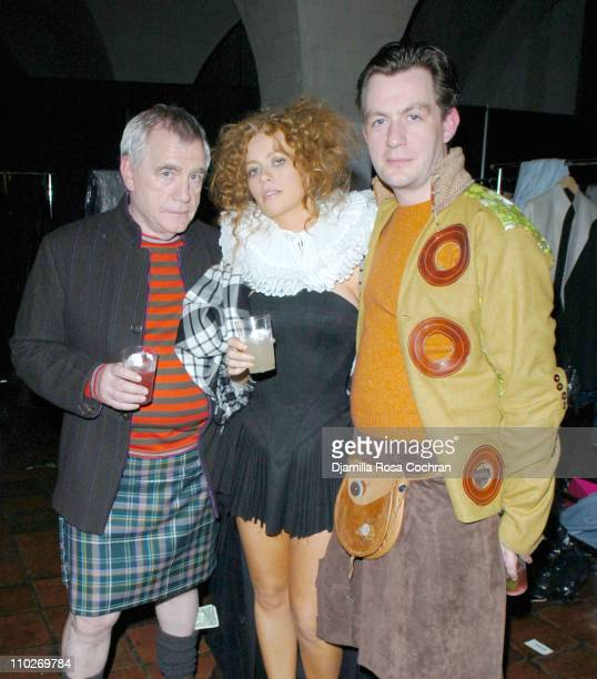 Brian Cox Kathleen McDermott and Alan Cox during Johnnie Walker Presents Dressed to Kilt Arrivals and Backstage at Synod House at St John the Divine...