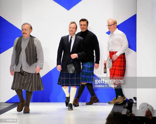Brian Cox Kiefer Sutherland Chris Noth and Jim Gaffigan walk the runway at the 9th Annual Dressed To Kilt charity fashion show at Hammerstein...