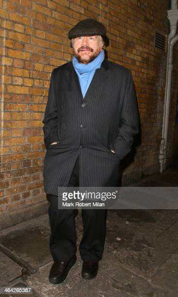 Brian Cox leaving the Weir press night on January 21 2014 in London England