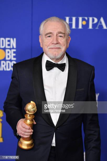 Brian Cox poses in the press room during the 77th Annual Golden Globe Awards at The Beverly Hilton Hotel on January 05 2020 in Beverly Hills...