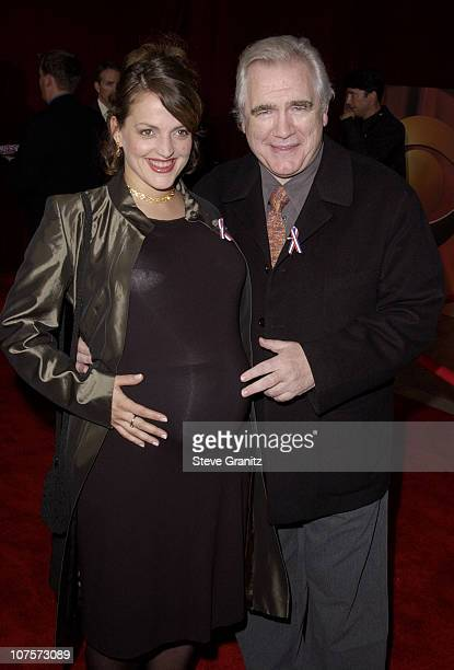 Brian Cox wife Nicole Araski arrive for the 53rd Annual Primetime Emmy Awards