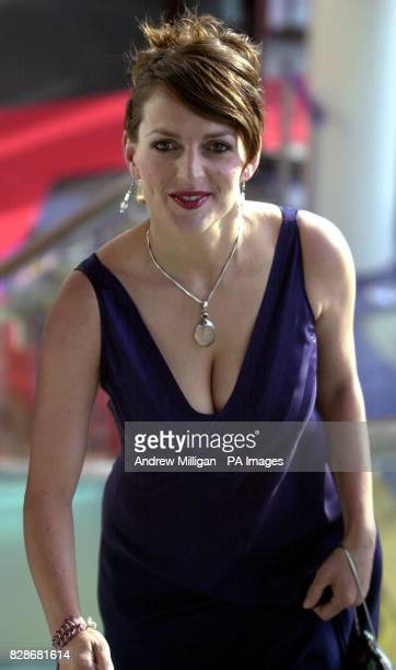Brian Cox's wife Nicole Ansari-Cox arriving for the X-Men 2 charity film premiere at the Warner Village Cinema complex in Edinburgh.