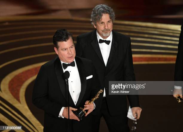 Brian Currie and Peter Farrelly accept the Original Screenplay award for 'Green Book' onstage during the 91st Annual Academy Awards at Dolby Theatre...