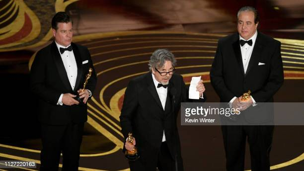 Brian Currie Peter Farrelly and Nick Vallelonga accept the Original Screenplay award for #39Green Book#39 onstage during the 91st Annual Academy...
