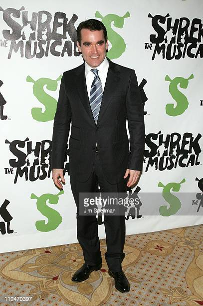 """Brian d' Arcy James attends the opening night party for """"Shrek The Musical"""" on Broadway at the Plaza hotel on December 14, 2008 in New York City."""