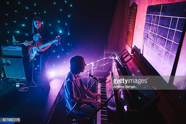 Brian D'Addario and Megan Zeankowski of The Lemon Twigs perform at Brudenell Social Club on December 1 2016 in Leeds England