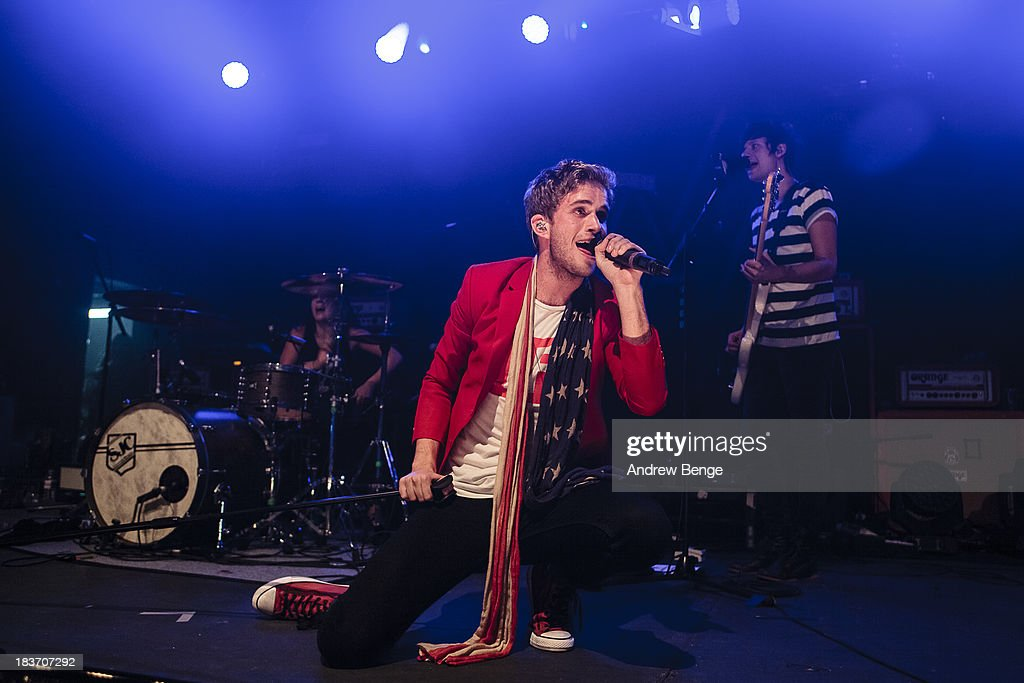 Brian Dales of The Summer Set performs on stage at Manchester Academy on October 7, 2013 in Manchester, England.
