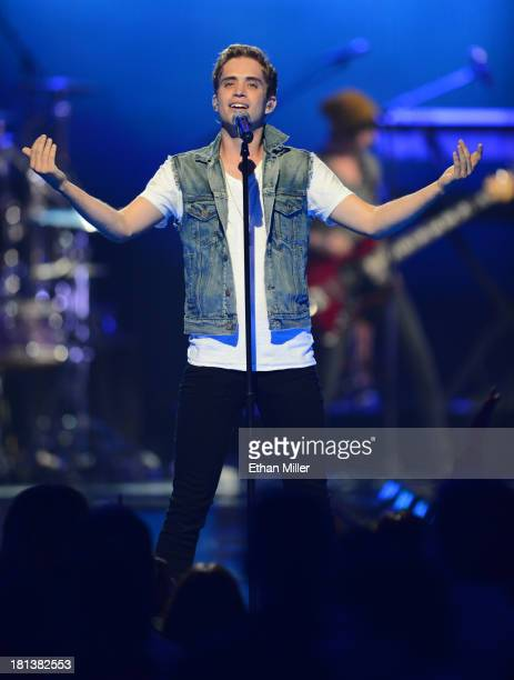 Brian Dales of The Summer Set performs onstage during the iHeartRadio Music Festival at the MGM Grand Garden Arena on September 20, 2013 in Las...