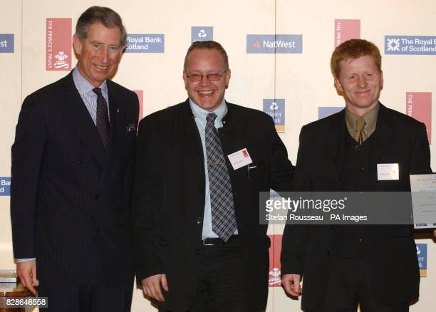 Brian Daly and Nick Howell of Triple S Security with the Prince of Wales at the The Prince's Trust and Royal Bank Of Scotland Group Business Awards...
