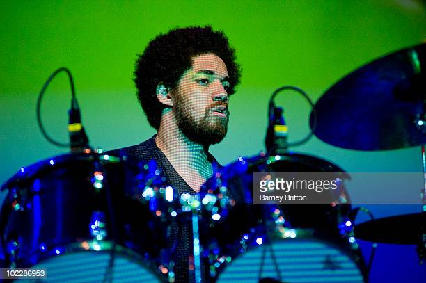 Brian Dangermouse Burton of Broken Bells performs on stage as part of Meltdown at the Royal Festival Hall on June 21 2010 in London England