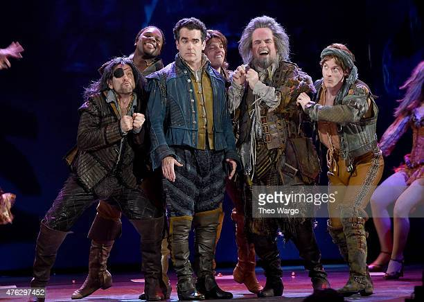 Brian d'Arcy James and Brad Oscar and the cast of Something Rotten perform onstage at the 2015 Tony Awards at Radio City Music Hall on June 7 2015 in...