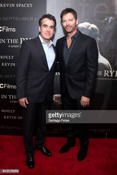 Brian D'arcy James and Harry Connick Jr attend 'Rebel In The Rye' New York premiere at Metrograph on September 6 2017 in New York City