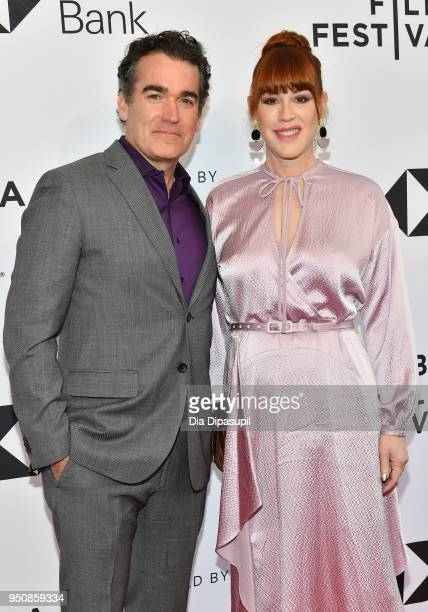 Brian d'Arcy James and Molly Ringwald attend the screening of All These Small Moments during the 2018 Tribeca Film Festival at SVA Theatre on April...