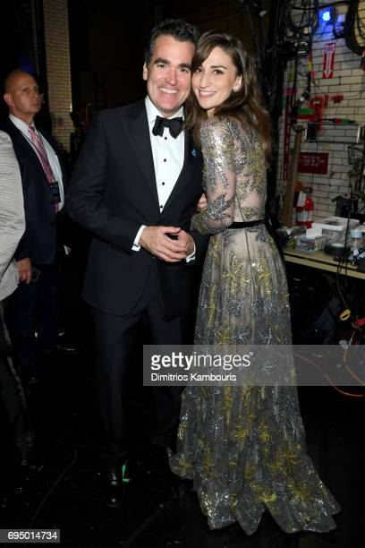 Brian d'Arcy James and Sara Bareilles attend the 2017 Tony Awards at Radio City Music Hall on June 11 2017 in New York City