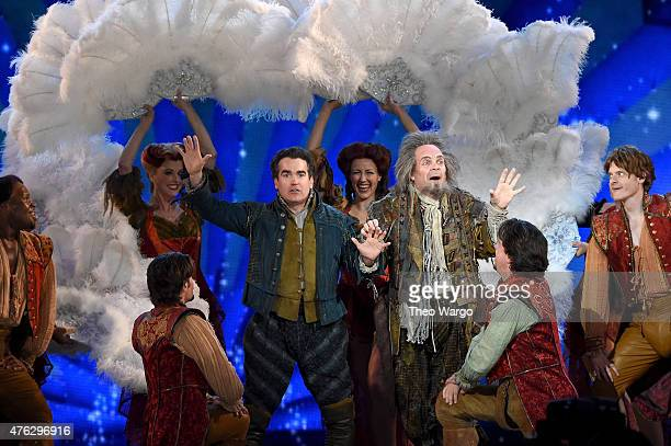 Brian d'Arcy James and the cast of Something Rotten perform onstage at the 2015 Tony Awards at Radio City Music Hall on June 7 2015 in New York City