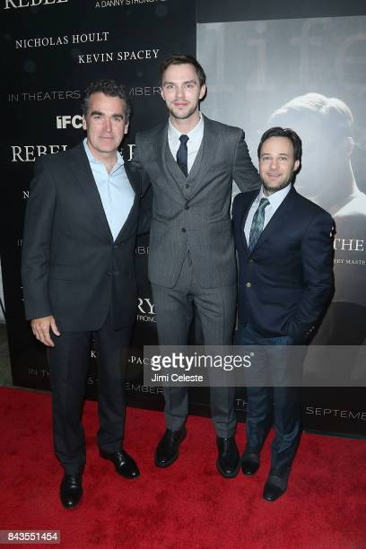 Brian d'Arcy James Nicholas Hoult and Danny Strong attend 'Rebel in the Rye' screening and after party hosted by Jean Shafiroff and IFC Films at...