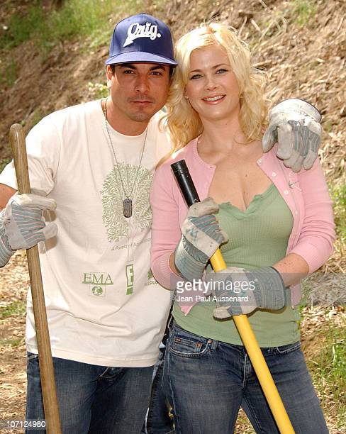 Brian Dattilo and Alison Sweeney during Environmental Media Association and E Entertainment Television Tree Planting Event Arrivals at TreePeople...