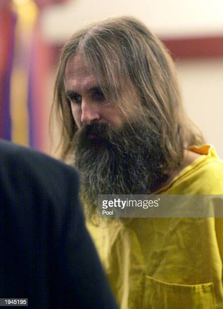 Brian David Mitchell dressed in prison clothing returns to jail after a court hearing April 22 2003 in Salt Lake City Utah Mitchell is charged with...