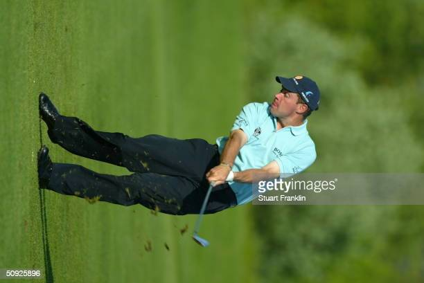 Brian Davis of England during the rain delayed second round at The Telecom Italian Open at Castello di Tolcinasco Golf and Country Club on May 1 2004...